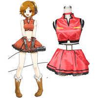 Free Shipping Vocaloid Sakine Meiko Cosplay Dress Uniform Full Set Women Girls Halloween Costumes Custom-made