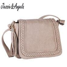 Jiessie & Angela новый Винтаж сумки на плечо для женщин сумка из искусственной кожи для Модельер Crossbody