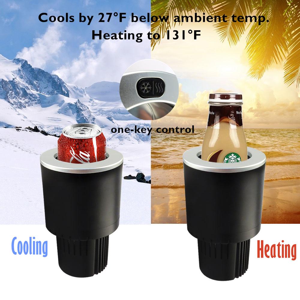 2017 new smart auto cooler portable car cup holder small fridge for