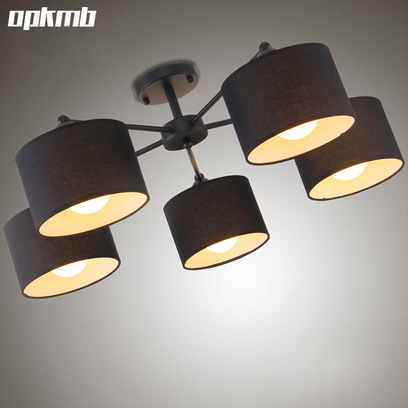 ФОТО fabric cloth led ceiling lamps  circle art ceiling lights with E27 bulb decoration bedroom light living room lamps