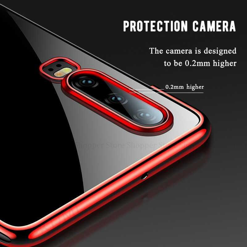 Lembut Menyepuh Dgn Listrik untuk Huawei P30 P20 Pro P10 Lite P8 P9 Lite 2017 P Smart Z Plus 2019 Cover untuk Huawei P30 P9 Lite 2016 Tas