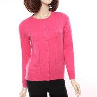 100% козья кашемировая вязаная женская мода Oneck свитер розовый персик 4 вида цветов S 2XL Розничная mix Оптовый