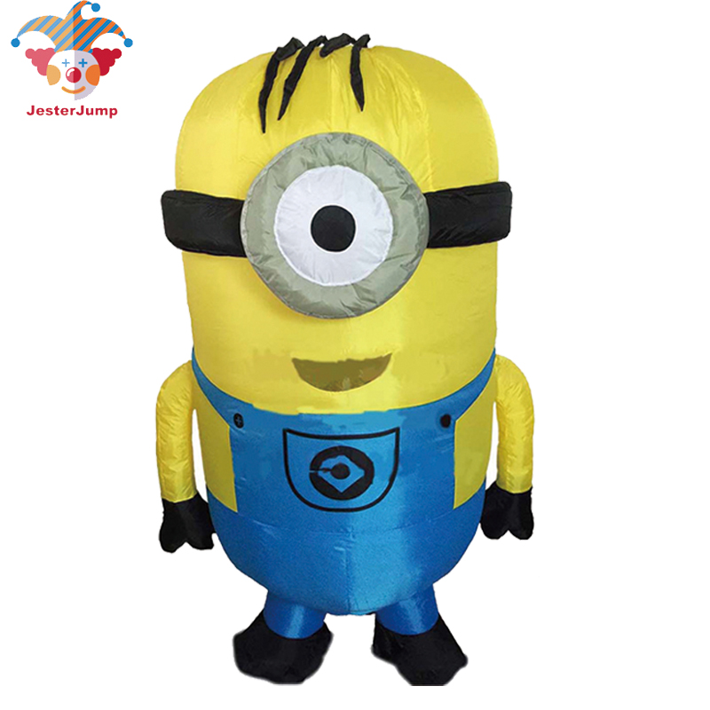 2019 Halloween Cosplay Party Costume Adult Minion Inflatable Minion Costume Mascot For 1 5 2m Adult