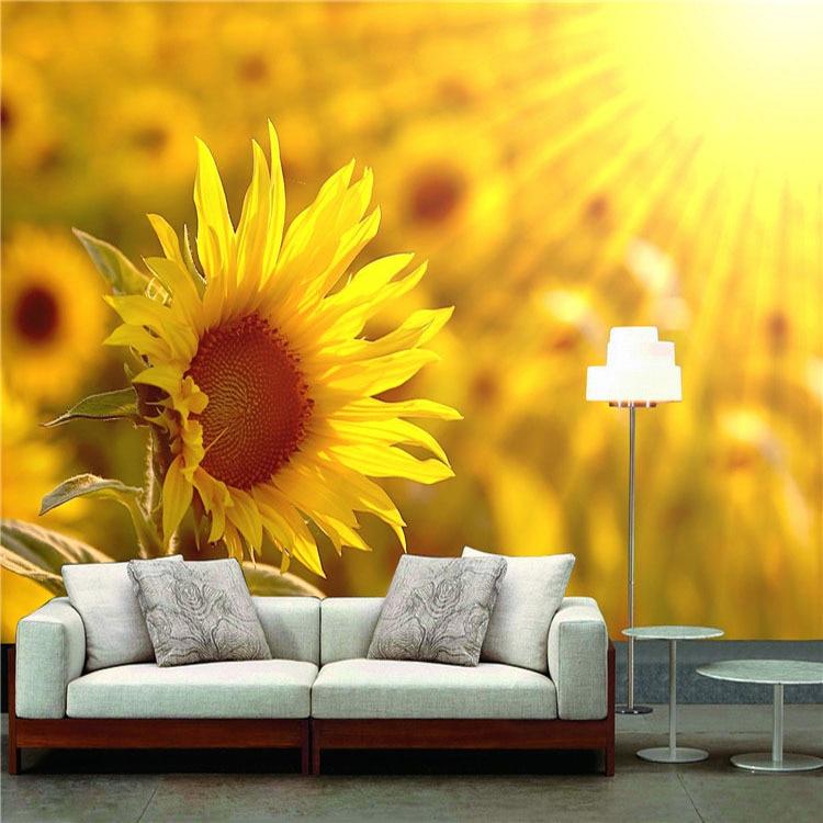 Popular sunflower wall murals buy cheap sunflower wall for Sunflower bedroom decor