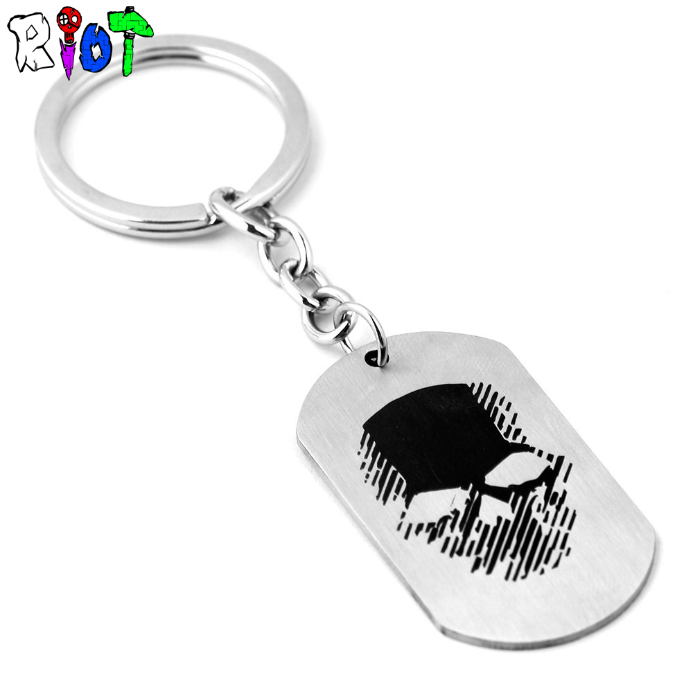 Game Tom Clancys Ghost Recon Wildlands keychain Stainless steel Tom Clancy keyring dog tag keyholder necklace men jewelry gift ...