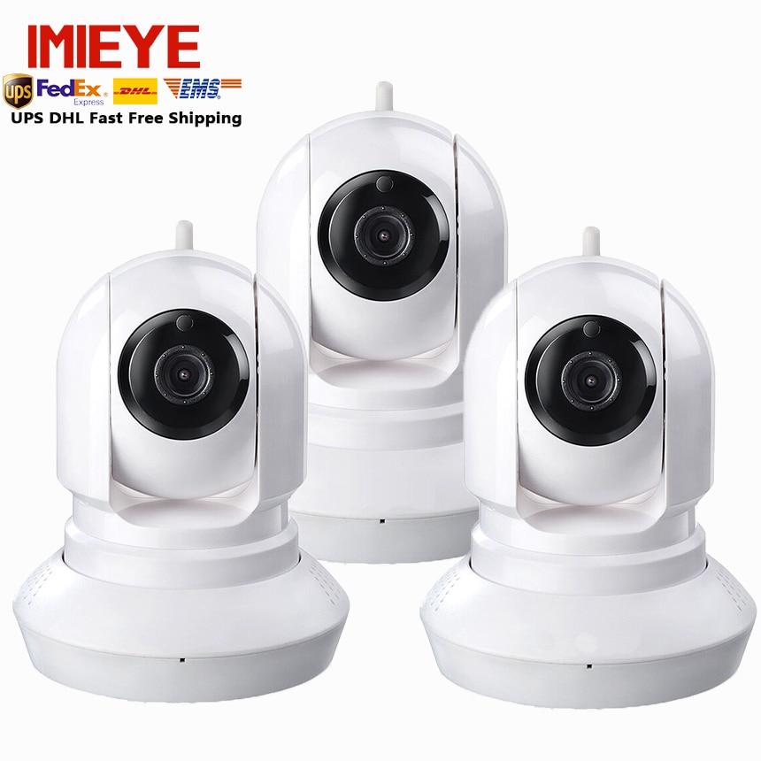 3pcs/lot IMIEYE ipcamera wifi wireless support onvif SD CCTV Security ipkamera wifi P2P Baby monitor H.264 Pan/Tilt wifi camera