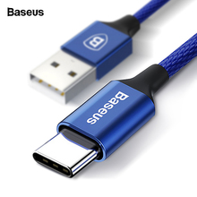 Baseus USB Type C Cable 3A Fast Charging Charger Type-c USB-