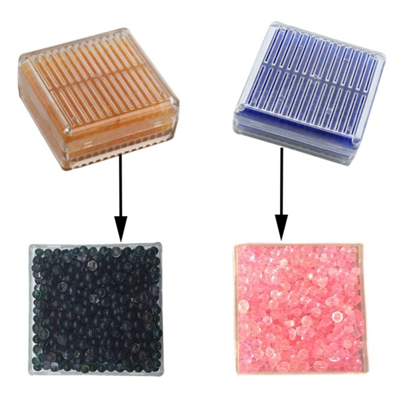 1pc Reusable Anti-mold Agent Silica Gel Desiccant Box Moisture Absorbent Box With Color Changing Indicating Moisture-proof Beads