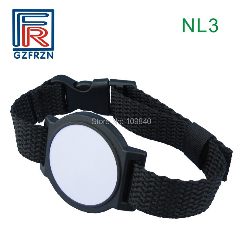 100pcs/lot 13.56MHz S50 Nylon NFC Wristband / Cheap RFID Chip Woven Bracelet For Events E-ticket Access Control