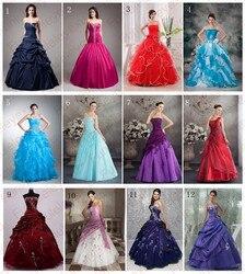 9 estilos vestido de baile strapless querida ruffle formal pageant vestido de noite longo baile quinceanera vestidos frete grátis