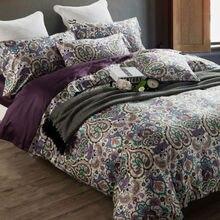 1000TC de bohemia de lujo juego de cama queen doble king size funda nórdica bedsheet almohada 4 unids geyptian bedlinens Algodón