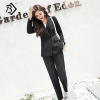 2018 Autumn New Arrival Women's Pants Suits Blazer Tops And Long Pants Turn down Collar Casual Style Full Sleeve Hots S88845L
