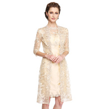2018 Mother of the Bride Groom Dresses Knee Length Champagne