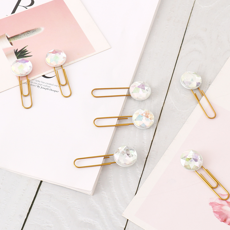 New Creative Bookmark Paper Clip 50mm Patch Girl Heart Pin Handbook Decorative Paperclip Paper Clips Decorative Stationery Clips