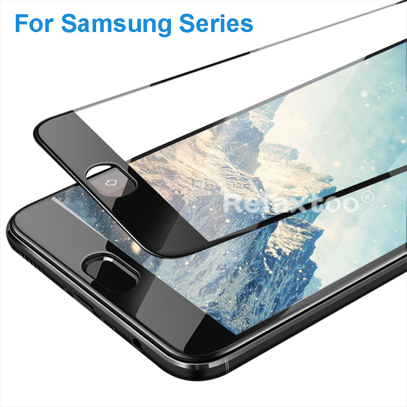 full cover tempered glass for samsung a6 a3 a5 a7 a8 plus 2018 j2 j3 j4 j5 j6 j7 pro 2016 2017 galaxy s7 s6 case Screen film