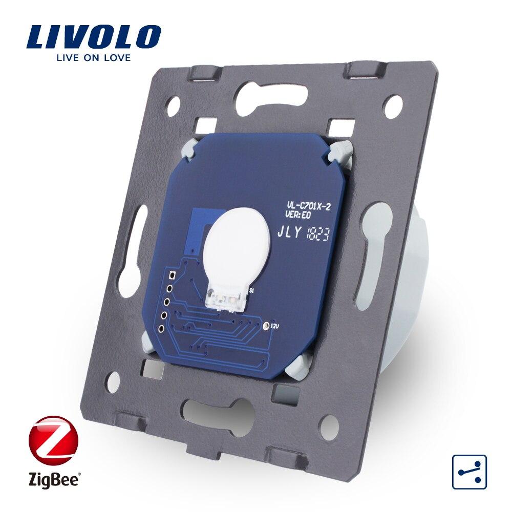 Livolo EU Standard, 1 Gang 2 voies contrôle, AC 220 ~ 250 V, ZigBee applique murale tactile interrupteur sans panneau de verre, VL-C701SZ