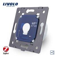 Livolo EU Standard,1 Gang 2 Way app Control, ZigBee Wall Light smart Switch Without Glass Panel, AC 220~250V VL C701SZ