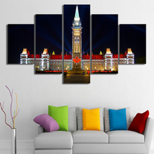 5 Pcs/Set Framed HD Printed Quebec Canada Houses Ottawa Picture Wall Print Poster Canvas Oil Painting Cuadros Decorativos(China)