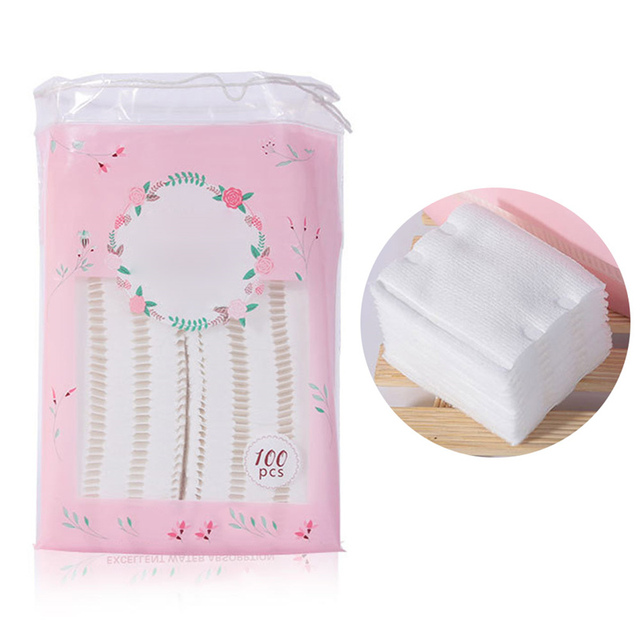 100pcs High Quality Makeup Cotton Cleansing Remover Cotton  4