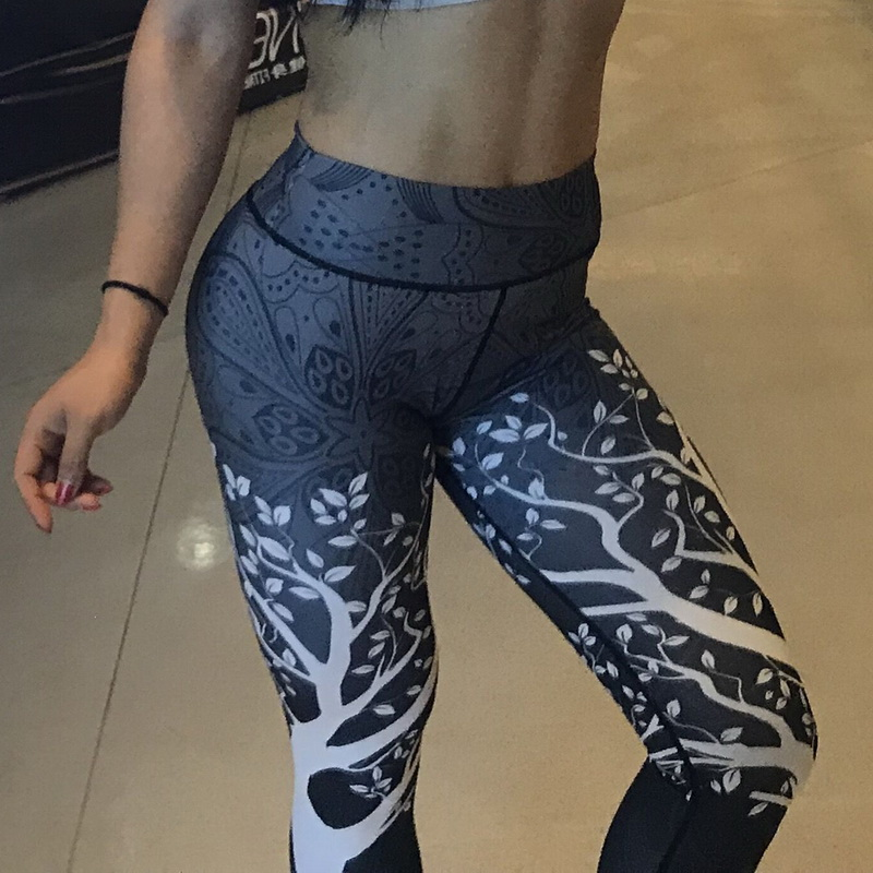 Vertvie Printed Women Sport Leggins Tree Pattern Yoga Pants Female Push Up High Waist Running Fitness Gym Workout  TrousersVertvie Printed Women Sport Leggins Tree Pattern Yoga Pants Female Push Up High Waist Running Fitness Gym Workout  Trousers