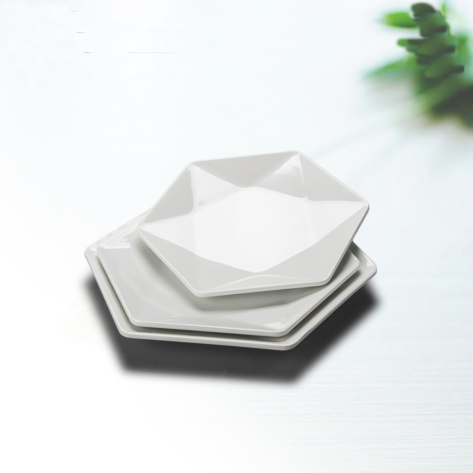 2017 NEW Japanese Hotel Tableware Creative Imitation Porcelain Dish White Melamine Dishes Serving Plate Western Food Fruit Tray-in Dishes u0026 Plates from Home ...  sc 1 st  AliExpress.com & 2017 NEW Japanese Hotel Tableware Creative Imitation Porcelain Dish ...
