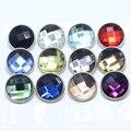 12 pçs/lote cores Misturadas 18mm vidro Snaps snaps botões Jóias Facetada Fit snaps Pulseiras snaps jóias GS1111022-MIX