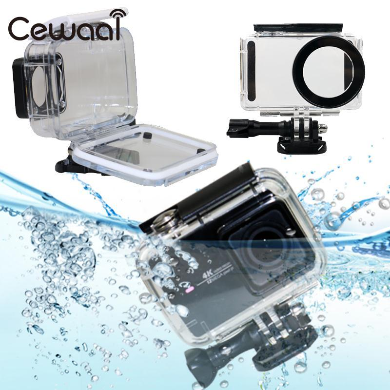Cewaal Protective 45m Waterproof Underwater Diving Hard Housing Case Protector For Xiaomi Mijia 4K Camera Cam цена