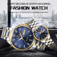 Women watches watch men JSDUN Luxury Couple watches for lovers stainless steel mechanic automatic movement waterproof relogio