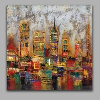 Abstract Modern Architecture Handmade Oil Painting Handmade Painting Home Decoration Wall Art