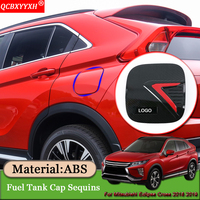 Car styling Oil Fuel Tank Cap Sequins Covers Stickers External Decoration Car Accessories For Mitsubishi Eclipse Cross 2018 2019