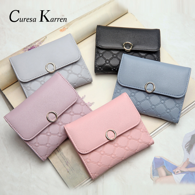 New Women Short Purse, Large Volume Doca Women's Purse, Simple Fashion Buckpocket, Small Magnets Adsorb Women's Business Wallet