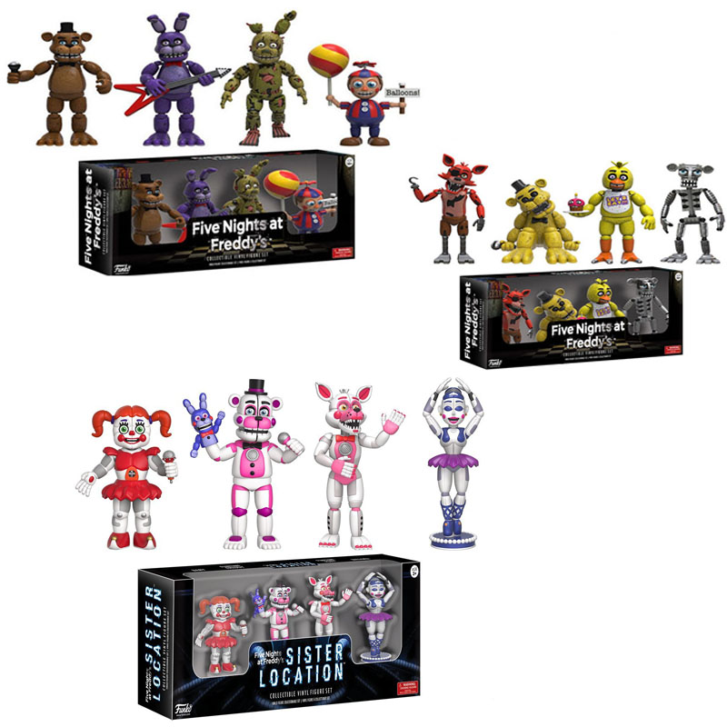 Funko POP Five Night At Freddy's FNAF Action Figures Toys Foxy Freddy FNAF sister location PVC model Toys for Children gift-in Action & Toy Figures from Toys & Hobbies