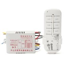 Canal 4 Vías Interruptor de Control Remoto Inalámbrico 220 V ON/OFF Para La Lámpara de Luz Divisor Con Transmisor Digital Populares