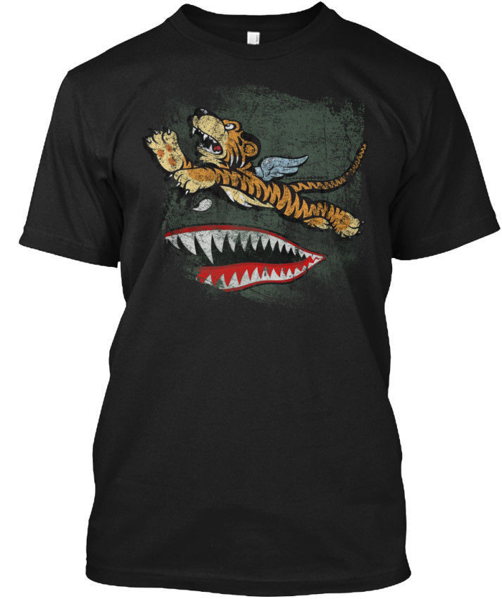 Avg Flying Tigers Tee T-Shirt Summer T Shirt Brand Fitness Body Building 100% Cotton Letter Printed T-Shirts top tee