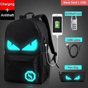 Noctilucent Cartoon Teenager Backpack School Bags for boy 1