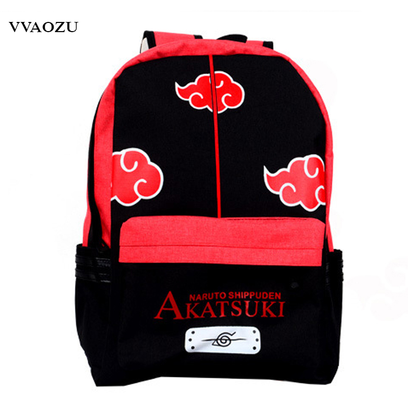 New Naruto Canvas Backpack Japan Anime School Backpacks Cartoon Schoolbags Bolsas Mochila Escolar Shoulder Bags japan pokemon harajuku cartoon backpack pocket monsters pikachu 3d yellow cosplay schoolbags mochila school book bag with ears
