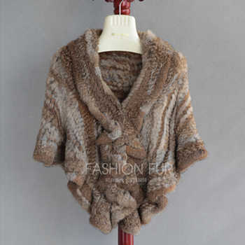 FXFURS 2020 Handmade Fur Cape Knitted Rabbit Fur Shawl Genuine Rabbit Fur Cloak Cape Bride Fur Cape Women