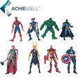 Superheroes Iron Man Thor Loki Spiderman Batman Hulk Captain America Wolverine PVC Action Figures Toys 8pcs/set