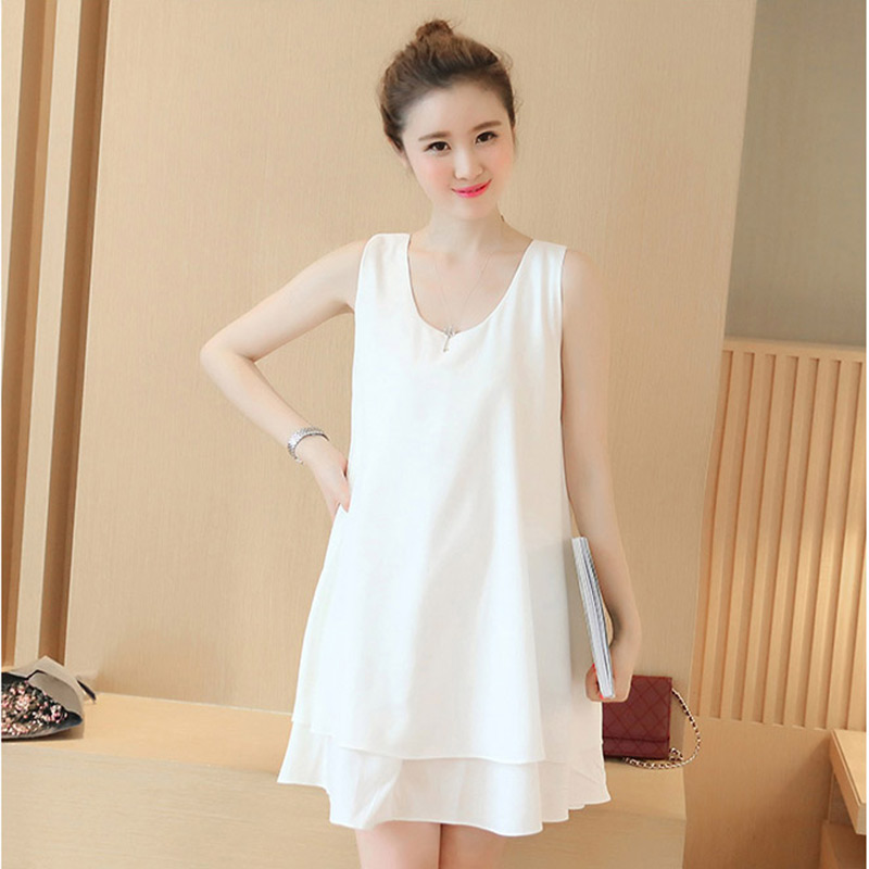 Pregnancy Dress Sleeveless Chiffon Maternity Clothing Summer Fashion Clothes for Pregnant Women Casual Skirt Pregnancy Dresses