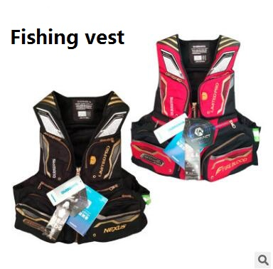 VF 113Q fishing vest Professional fishing jacket multi pockets Oversized Buoyancy breathable vest life jacket floating
