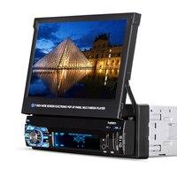 HEVXM/9901 г. 7 дюймов Экран может моторизованный pop up или отступить Сенсорный экран автомобиля MP5 плеер автомобиля аудио видео мультимедийный пл