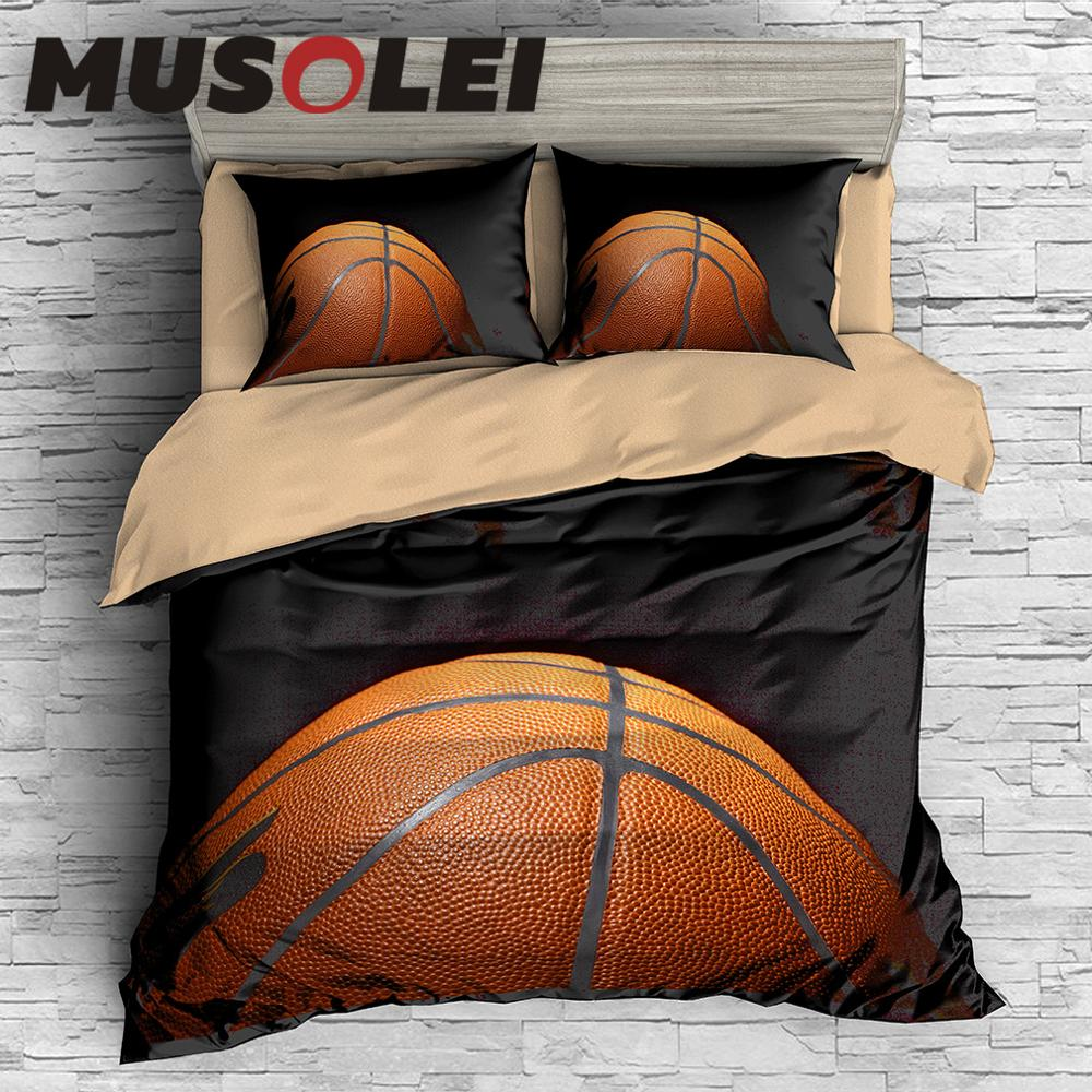 MUSOLEI 3D Digital Printin Passion Hard basketball Bedding Duvet Cover set Bed Sheet Pillowcases Bed Linen Twin queen king MUSOLEI 3D Digital Printin Passion Hard basketball Bedding Duvet Cover set Bed Sheet Pillowcases Bed Linen Twin queen king