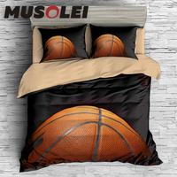 MUSOLEI 3D Digital Printin Passion Hard basketball Bedding Duvet Cover set Bed Sheet Pillowcases Bed Linen Twin queen king