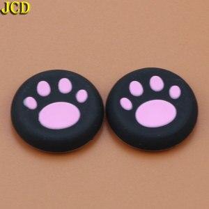 Image 2 - JCD 2pcs 실리콘 아날로그 조이스틱 그립 캡 Sony PlayStation 4 PS4 컨트롤러 고양이 클로 조이스틱 커버