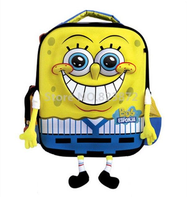 Favori Mignon Dessin Animé 3D SpongeBob Sac À Dos Enfants Enfants Sacs D  IC11
