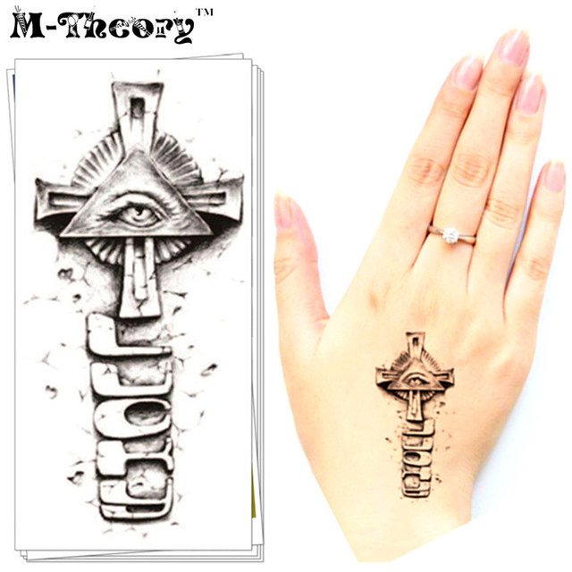 M Theory Halloween Temporary Tattoos Body Art Small Illuminati Flash