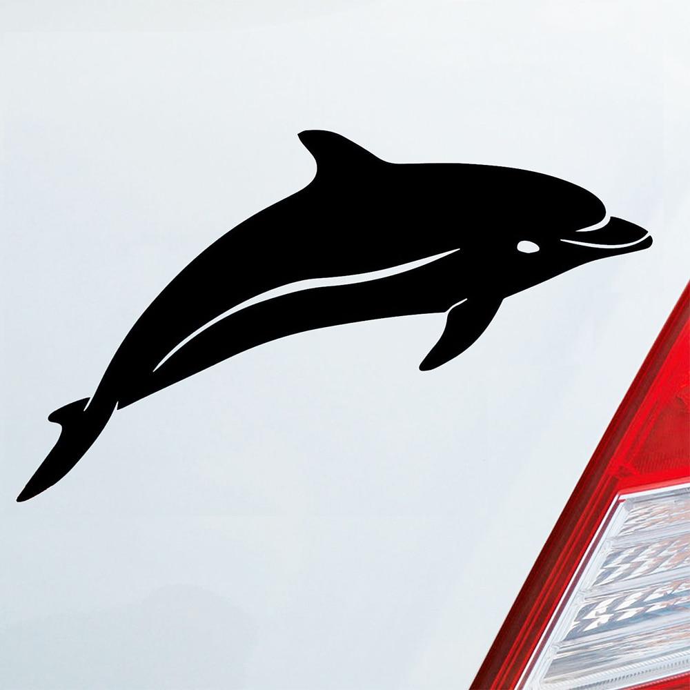 17 x 11 cm Appiu Auto-Aufkleber Delfin