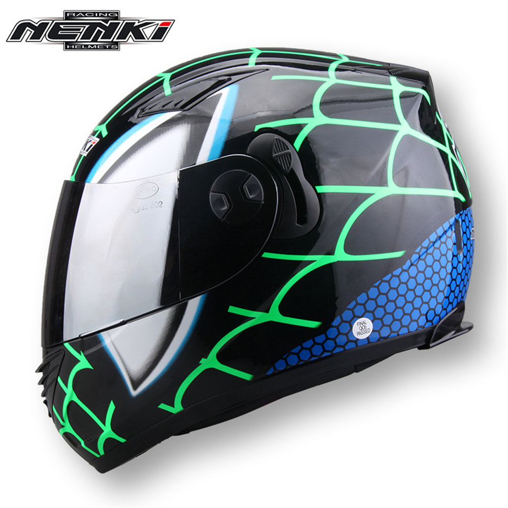 NENKI Motorcycle Full Face Helmet Men Motor Touring Motorbike Anti-fog Summer Helmet Dual Visor Sun Shield Lens 830 transparent lens anti uv anti shock welding helmet face shield solder mask face eye protect shield anti shock
