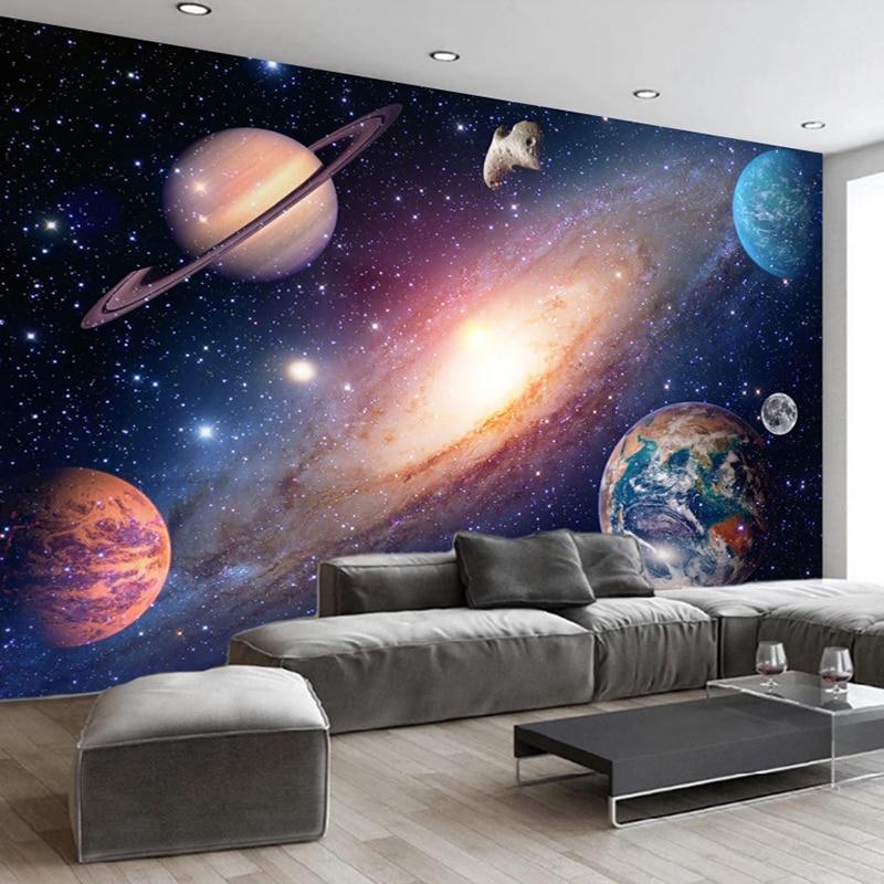 3D Wallpaper Modern Universe Starry Sky Photo Wall Murals Living Room Kids Bedroom Background Wall Home Decor 3D Papel De Parede