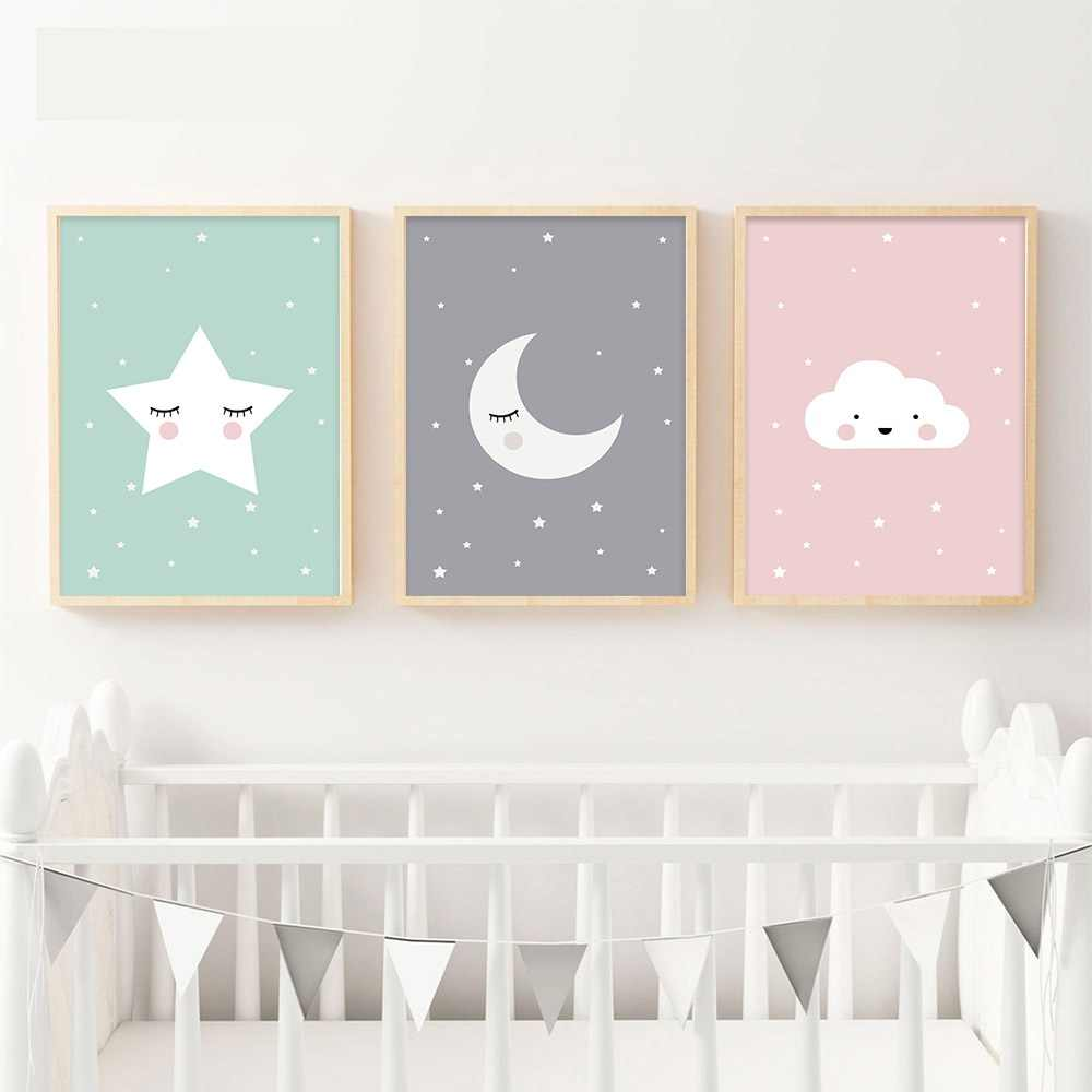 Detail Feedback Questions About Woodland Animal Deer Bear Wall Art Canvas Nordic Posters Nursery Prints For Baby Room Painting Picture Kids Bedroom